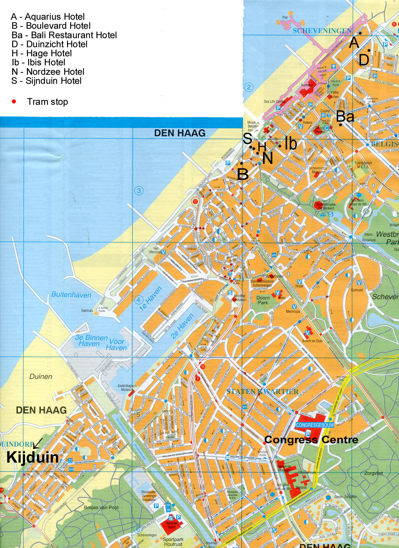 The Hague Hotel Map The Hague Netherlands mappery
