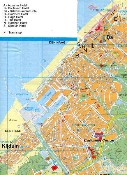 The Hague Hotel Map