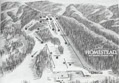 The Homestead Ski Area Ski Trail Map