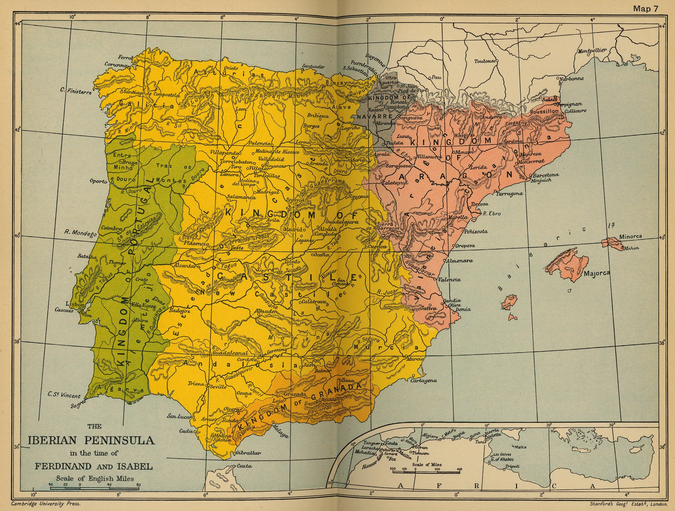The Iberian Peninsula Historical Map Portugal Mappery - Spain historical map