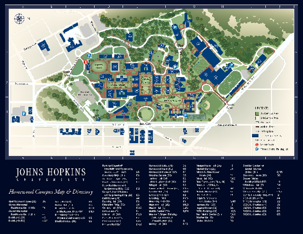 The Johns Hopkins University Map   Baltimore Maryland • mappery