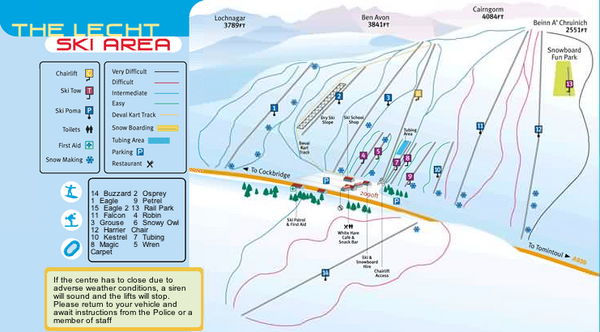 The Lecht Ski Trail Map
