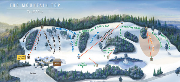 The Mountain Top at Grand Geneva Resort Ski Trail Map