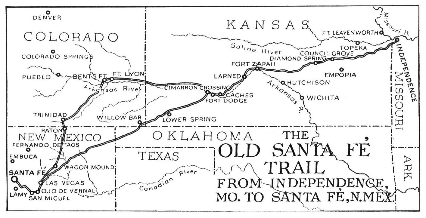 Santa Fe Trail Map Santa Fe Trail Wikipedia Px Map Of Santa Fe - Santa Fe On Us Map