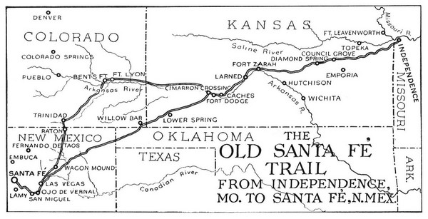 The Old Santa Fe Trail Map