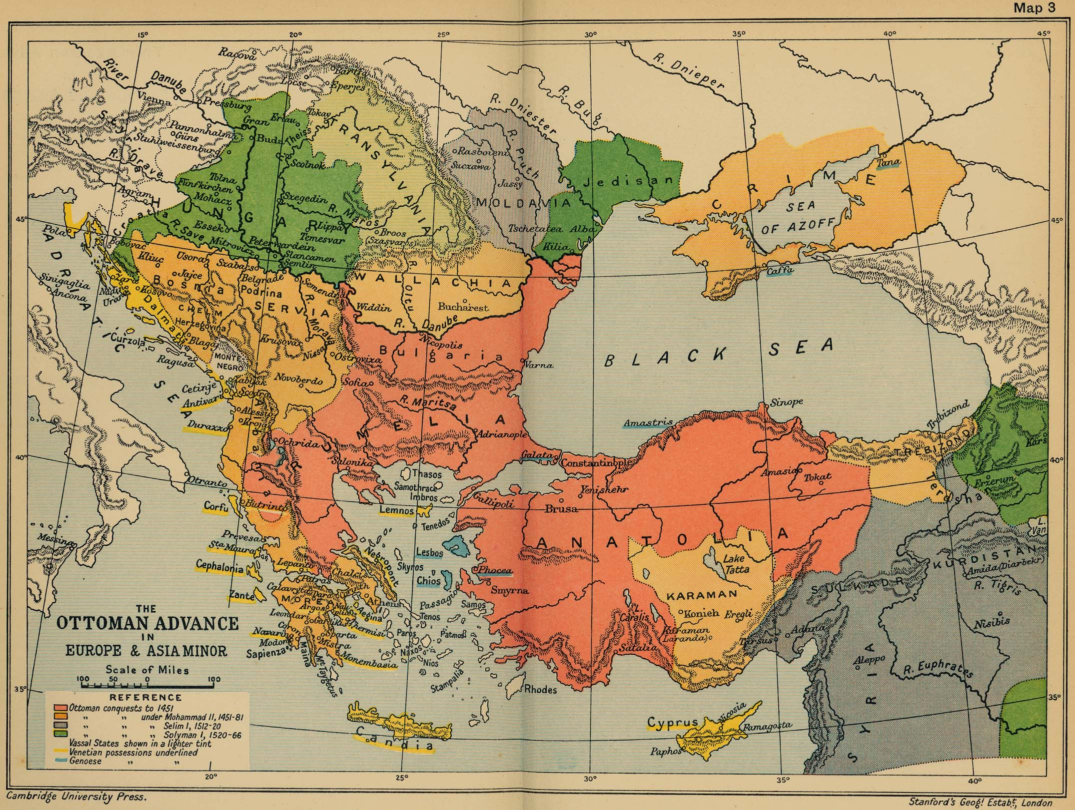 The ottoman advance of europe and asia minor map europe mappery gumiabroncs Choice Image