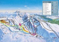 The Remarkables Ski Trail Map