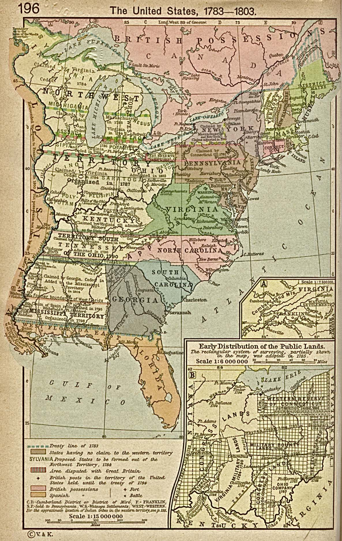 the united states 1783 1803 historical map united states mappery