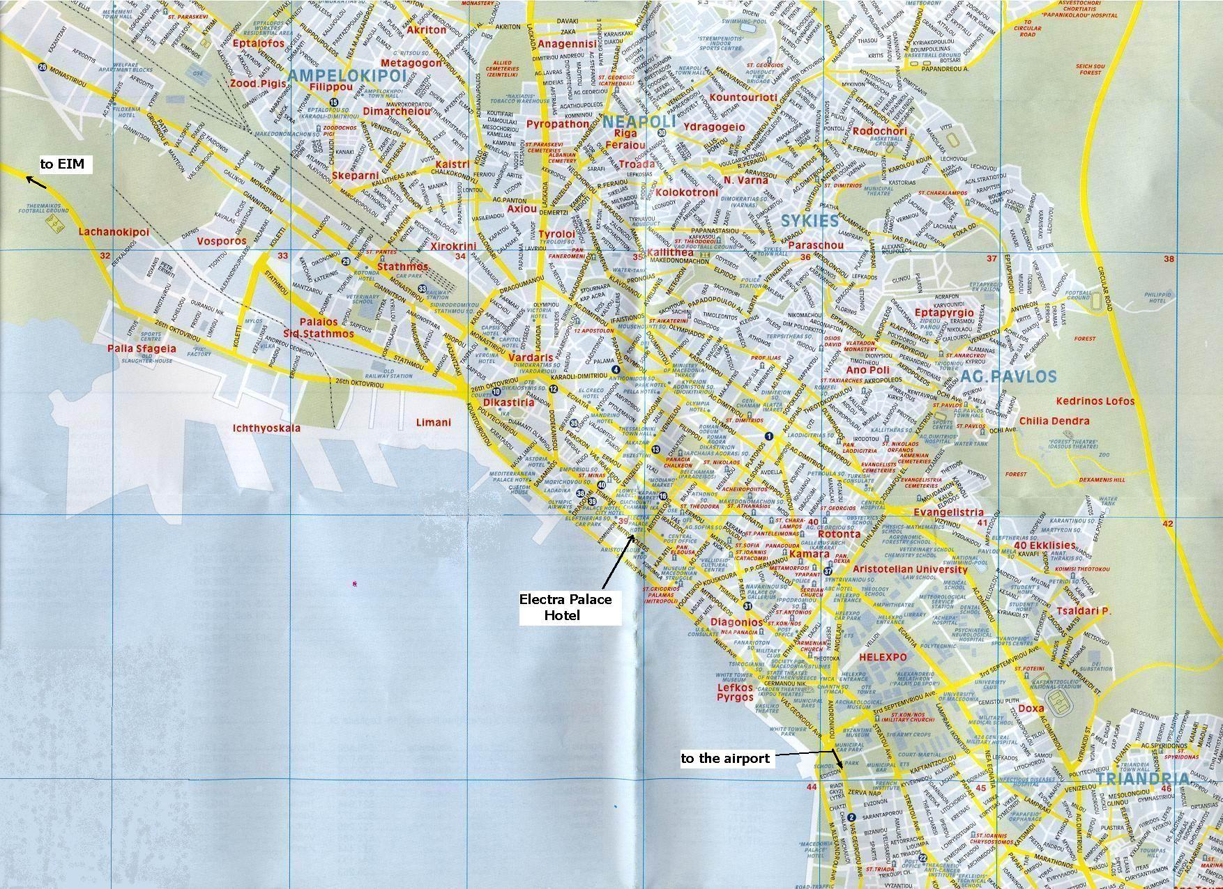 Thessaloniki Map Thessaloniki mappery