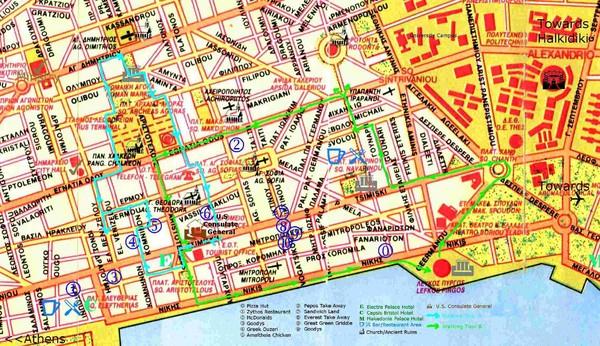 Thessaloniki Area Map