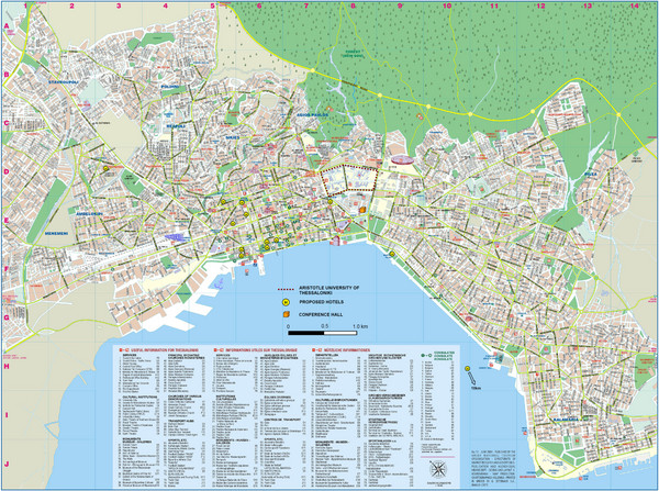Thessaloniki Tourist Map Thessaloniki Greece mappery – Greece Tourist Attractions Map