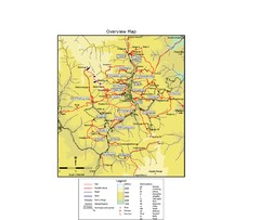 Thimphu trekking trails Map