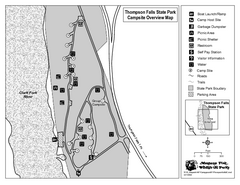 Thompson Falls State Park Map