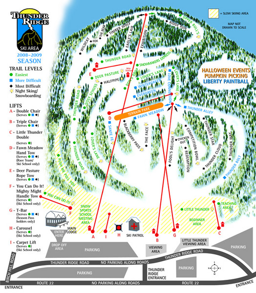 Thunder Ridge Ski Trail Map