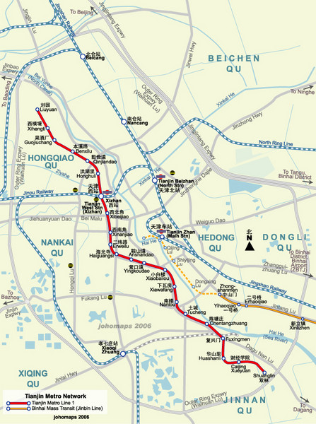 Tianjin Subway Map.Tianjin Metro Map Tianjin Mappery