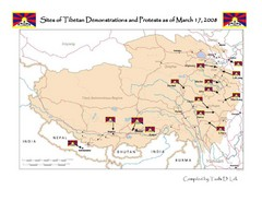 Tibet Protests Map