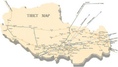 Tibet Transportation Map