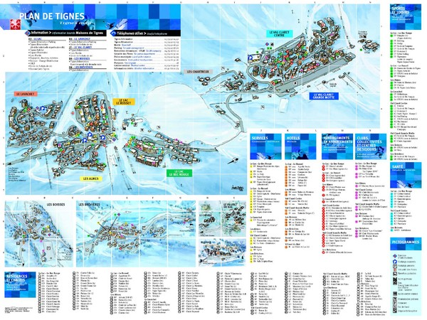 Tignes Ski Resort Town Map