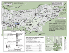 Tilden Regional Park Map - South