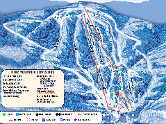 Timberline Ski Resort Ski Trail Map