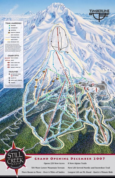 Timberline Ski Trail Map