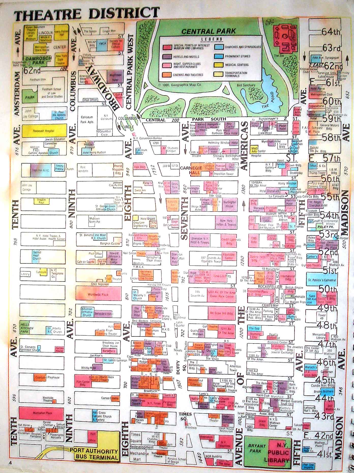 photo regarding Nyc Walking Map Printable called Manhattan Ny Map Of Town: Refreshing York Town Points of interest Map
