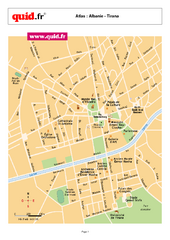 Tirana City Centre Map