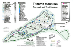 Titcomb Mountain Ski Trail Map