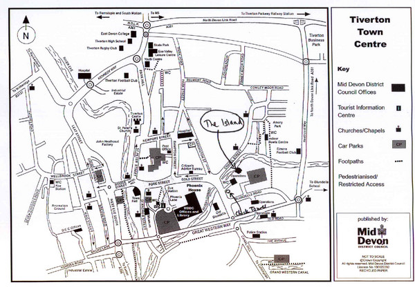 Tiverton Town Center Map