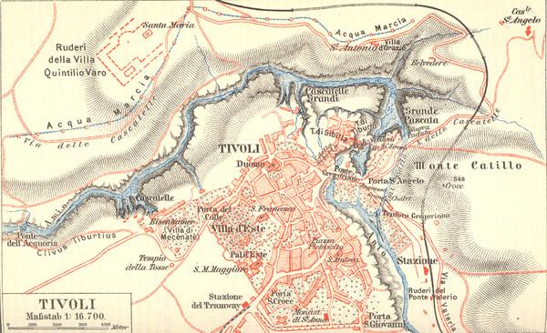 Tivoli Map tivoli italy mappery