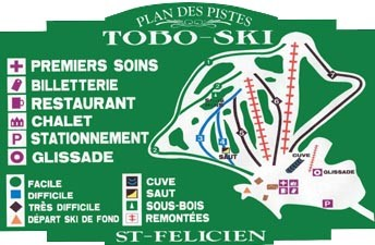 Toboski Ski Trail Map
