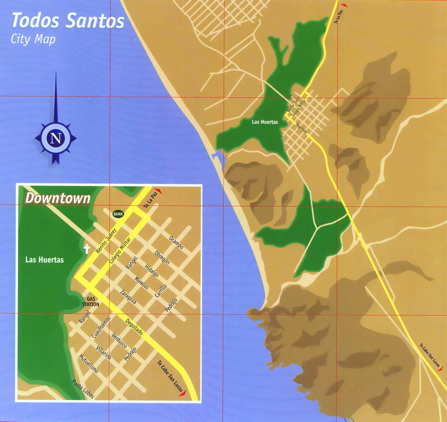Todos Santos Baja Map
