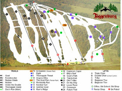 Toggenburg Ski Center Ski Trail Map