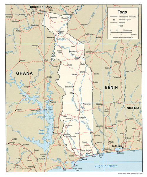 physical map of liberia. Fullsize Togo Political Map