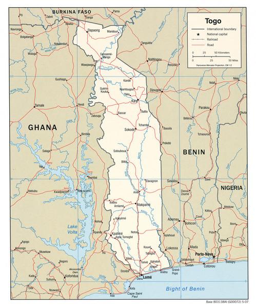 physical map of liberia. Fullsize Togo Political Map