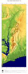 Togo Topography Map