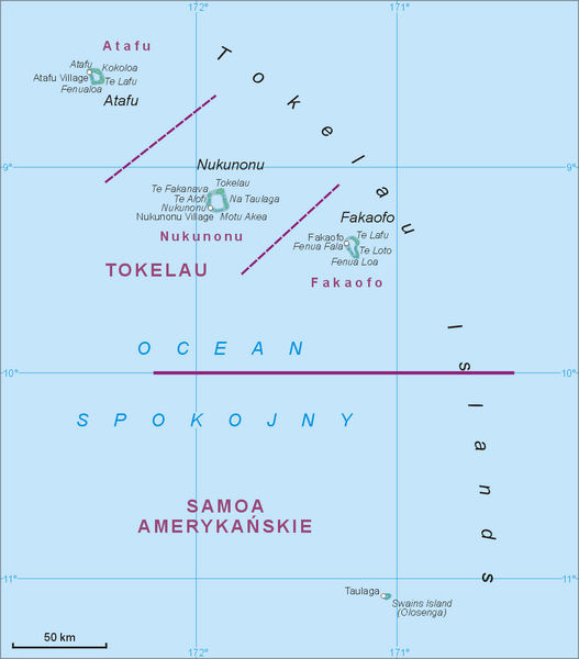 Tokelau Islands Map
