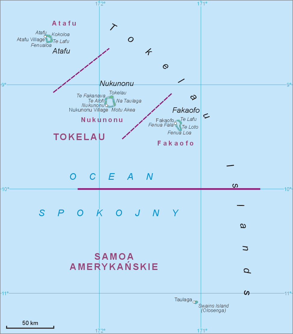 Tokelau Islands Map Tokelau Mappery - Tokelau map