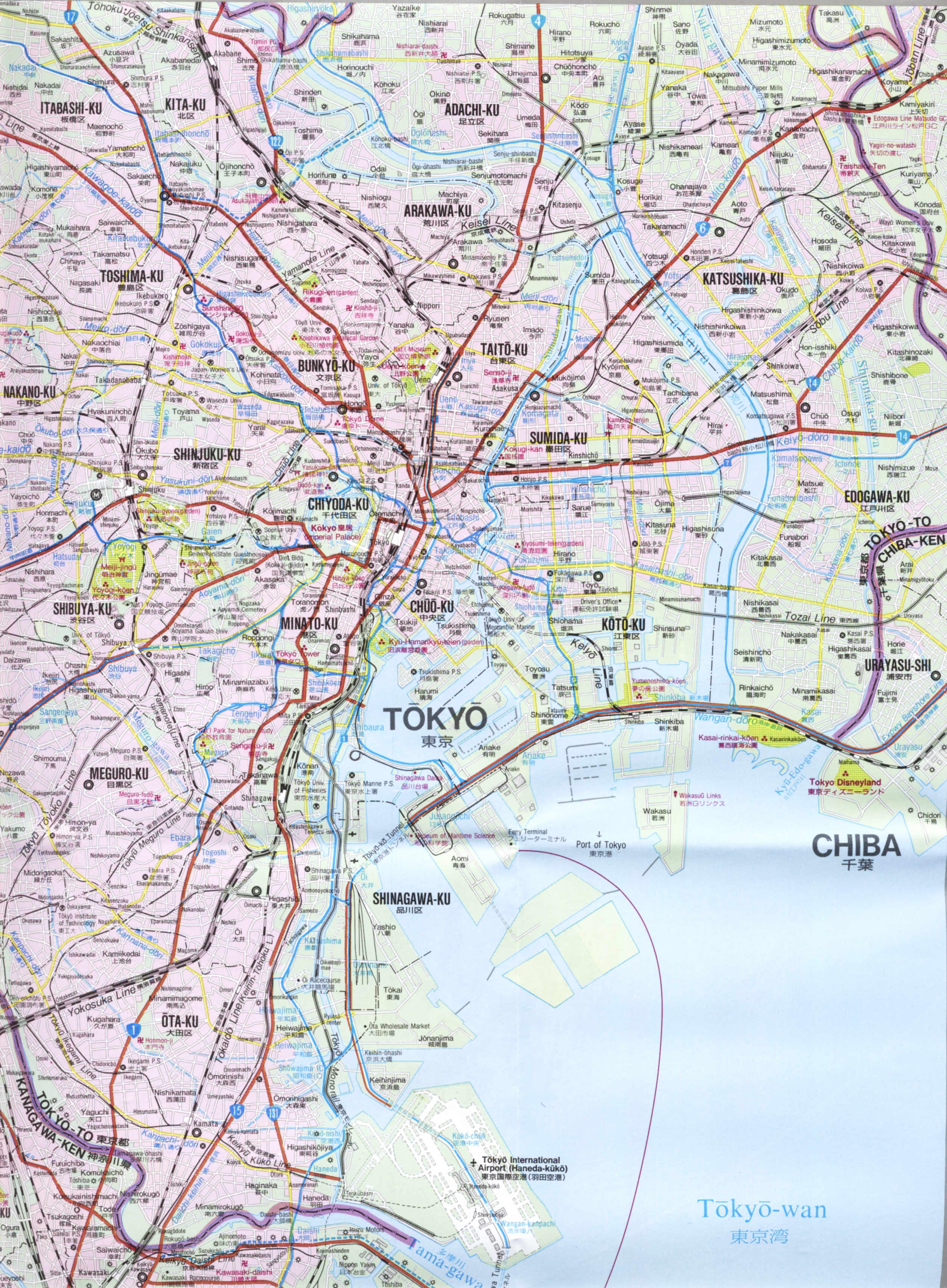 Tokyo Map Tokyo mappery