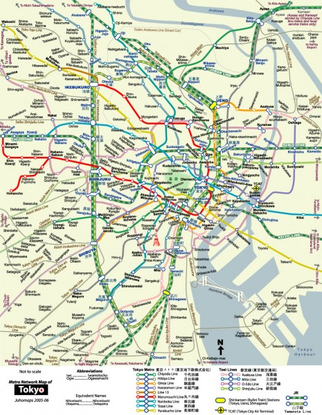 Tokyo Metro Map Unofficial Tokyo Japan Mappery