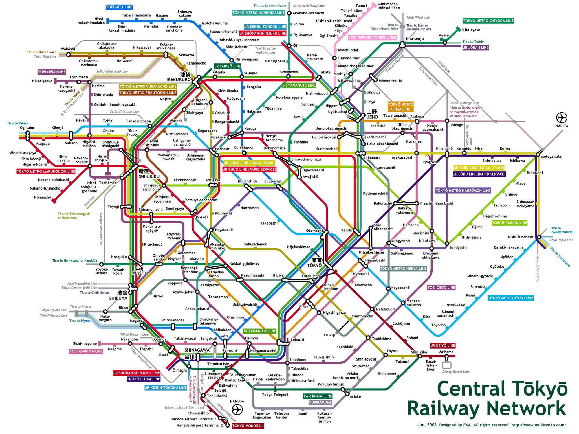 Tokyo Metro Map Tokyo Mappery