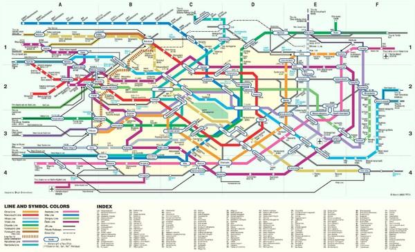 Tokyo Rail Map Tokyo Japan Mappery - Japan map rail