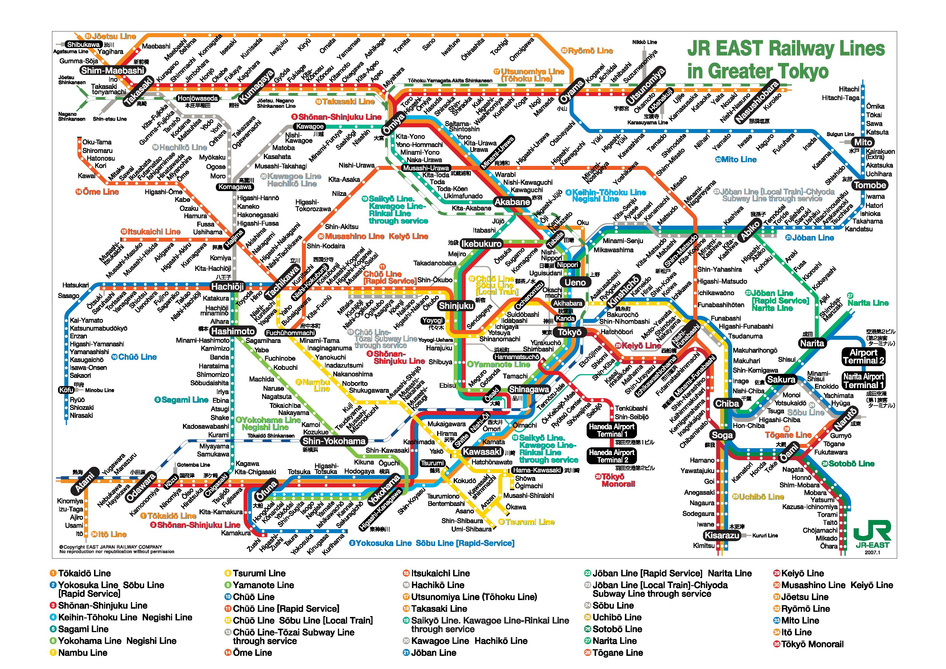 Tokyo Subway Map - Tokyo • ...