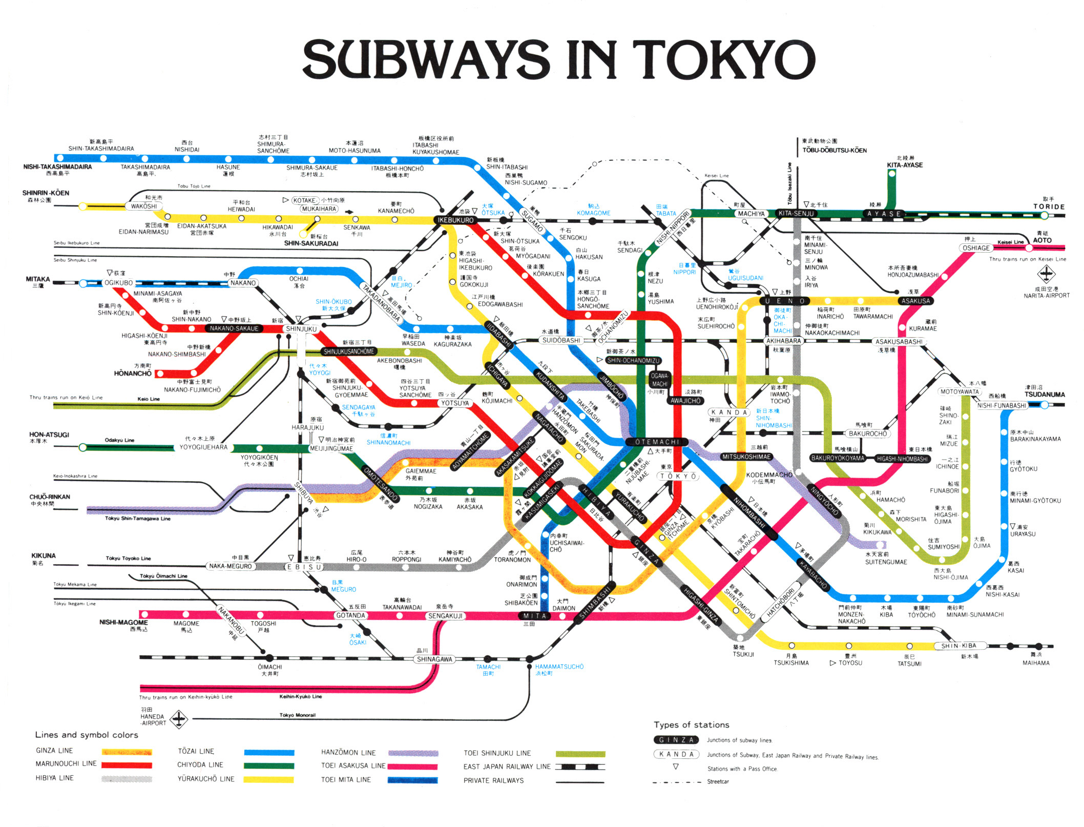 Tokyo Subway Map Tokyo mappery – Tokyo Tourist Map