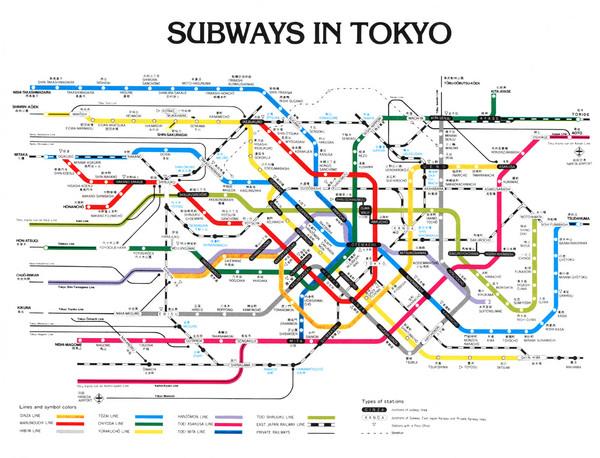 Tokyo Subway Maps.Tokyo Subway Map Tokyo Mappery