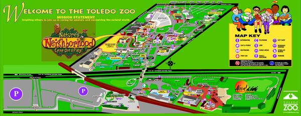 Toledo Zoo Map toledo zoo toledo oh mappery