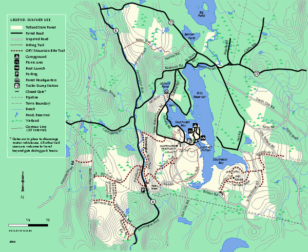 Tolland State Forest summer trail map