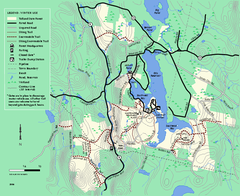 Tolland State Forest winter trail map