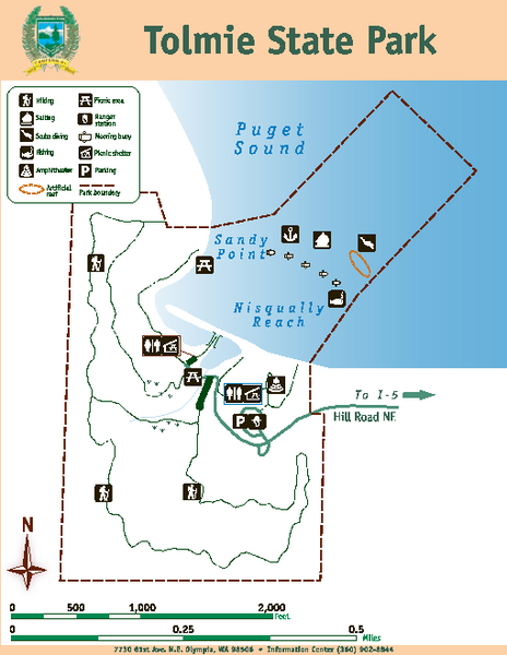 Tolmie State Park Map