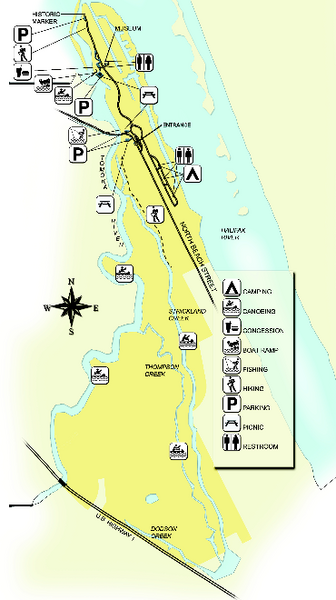Tomoka State Park Map 2099 North Beach Street Ormond Beach Florida